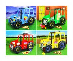 Kinderbett selber bauen traktor  Blauer Traktor als Kinderbett. | besondere Kinderbetten ...