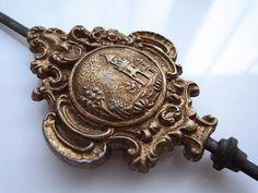 Wall Clock フランスアンティークアールヌーヴォー柱時計の振り子 Watch Antique ¥5000yen 〆05月18日