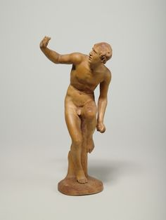 Son of Laocoön from the Laocoon Group, Academy model (statuette made of pear wood.       Date: 1780