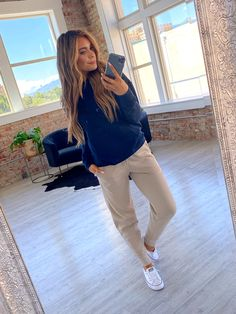 Trust us when we tell you, these are a must! Perfect to lounge around the house in, but cute enough to wear running errands. They are so soft, with a perfect fit and the cutest colors. All that's left to do is to choose a color or two! Jogger outfit, sweatpants outfit ideas, cute sweatpants, cute jogger pants, workout sweatpants, cute sweatpants outfit
