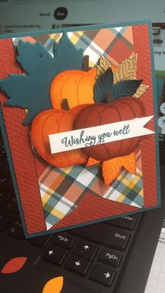 Thanksgiving Greeting Cards, Fall Cards, Holiday Cards, Birthday Cards For Women, Handmade Birthday Cards, Cricut Cards, Stampin Up Cards, Fancy Fold Cards, Get Well Cards