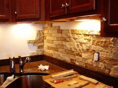 Inexpensive Kitchen Backsplash kitchen idea of the day: a printed glass backsplash. see more