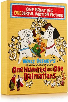 Olympia Le-Tan 101 Dalmatians Embroidered Cotton-Canvas Clutch