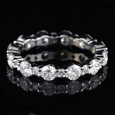 Special size 7.75 2ct Ct G-VS Diamond Eternity Wedding Band 18K Gold