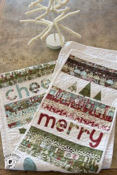 Merry & Cheer Quilted Christmas Table Runner Pattern