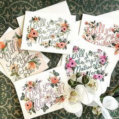 Lovely request cards for the big day!  Marigolds of Summerville Rifle Paper Co