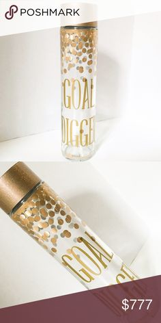 GOAL DIGGER- Upcycled Glass Voss Water Bottle Coming Soon!!! Like to be notified via price drop notification! Handmade Accessories