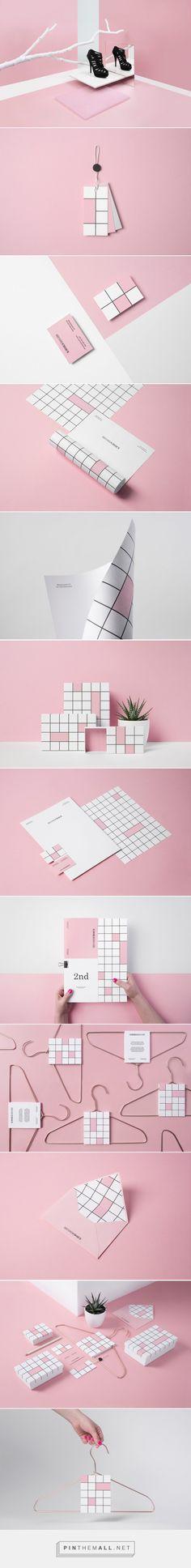 Lovely usage of blocks - Second Choice fashion brand design by Noeeko (Poland) - http://www.packagingoftheworld.com/2016/06/second-choice.html
