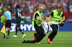 Pussy Riot Members Detained After Running Onto Field at World Cup Final, Police Say - The New York Times World Sports News, Latest Sports News, News Latest, 2018 Winter Olympics, After Running, Usa Sports, People Running, Final Four, World Cup Final