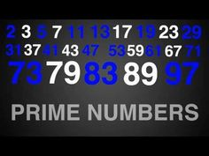 Prime numbers rap, reviews all the prime numbers between 1 and 100 - your kids are definitely going to get the refrain stuck in their heads!