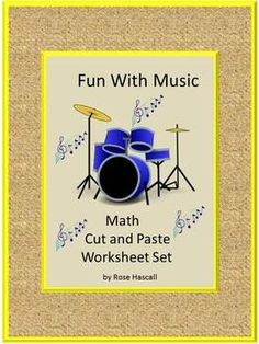 """Math: March is Music In Our Schools Month, Everyone loves music. It can be upbeat or relaxing. Get us """"moving"""" or calm us down. Some studies show that music can help with language and reasoning and math ability. Music can help our moods and concentration. Fun With Music Counting Worksheet consists of 14 worksheets. Students will enjoy learning the different musical instruments along with practicing their math skills using musical graphics."""