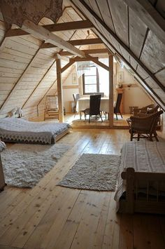 Savory Attic bedroom built in shelves,Attic spaces renovation and Remodel attic into living space. Attic Bedroom Small, Attic Bedrooms, Attic Loft, Loft Room, Attic Spaces, Bedroom Loft, Attic Bathroom, Attic Office, Attic Ladder