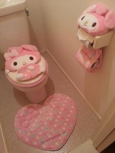 One day this will be my bathroom. My husband has no say in it what so ever.My melody bathroom for Esther Find images and videos about cute, pink and kawaii on We Heart It - the app to get lost in what you love.all filled up with things benign Hello Kitty Bathroom, Hello Kitty House, Hello Kitty Items, Aesthetic Rooms, Pink Aesthetic, Kawaii Bedroom, Otaku Room, Cute Furniture, Cute Room Decor