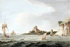 Dunollie castle painting showing the castle in 1789 Scotland Travel, Scotland Trip, Castle Painting, Used Textbooks, Price Book, College Students, Travel Posters, Family History, Screen Printing