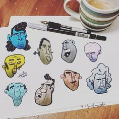 Random faces sketches from this week #procreate #ipadproart #art #draw #draws #cartoon #drawingoftheday #dailydrawing #artwork #dailyart #artoftheday #concept #drawing #arts #sketchbook #conceptart #arts #doodle #illustration #sketch #instaart #instadraw #instaartist #instadaily #sketchbook