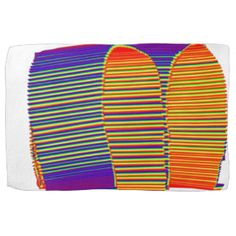 Painted Bamboo Straw Mat HUT Towels