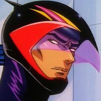 Gatchaman OVA series ~~ Wary, yet watchful. Joe the Condor has Everyone's backs.