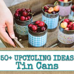 50+ Tin Can Projects & Ideas - Visit www.reincarnationsart.com for more Upcycled Projects and Ideas!