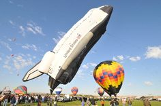 October is the time of the Albuquerque Balloon Fiesta. Imagine 600 or more balloons in the sky every morning for two weeks. Albuquerque Balloon Fiesta, Hot Air Balloon, Photo Galleries, Balloons, Old Things, Gallery, October, Events, Sky
