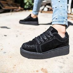 Creeper Love  Shop our TUK Casbah Creeper online or at any of our 3 stores in Cape Town  R2299 - Sizes UK/SA 3 - 8.5 available.  Delivery to your door anywhere in SA and worldwide - www.thatshoelady.co.za  #tukfootwear #tukshoes #tuk #creepers #tukcreepers #sneakers #blackshoes #blacksuede #grungeshoes #blacksneakers #shoes #shoeswag #shoeporn #shoegame #loveshoes #shoelove #lovecreepers #shoefettish #coolshoes #sneakergame #thatshoelady  #cuteshoes #platformshoes #platformsneakers…