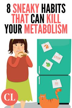 8 Sneaky Habits That Can Kill Your Metabolism Losing Weight Tips, Weight Loss Goals, Lose Weight, Healthy Eating Tips, Healthy Habits, Healthy Food, Clean Eating Plans, Cooking Light Recipes, Improve Metabolism