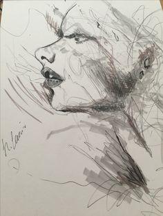 Marker sketch woman