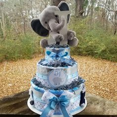 Regalo Baby Shower, Baby Shower Niño, Baby Shower Diapers, Baby Shower Balloons, Baby Shower Gifts, Baby Shower Decorations For Boys, Boy Baby Shower Themes, Elephant Baby Shower Centerpieces, Peanut Baby Shower