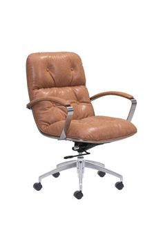 100446 - Avenue Office Chair Vintage Coffee