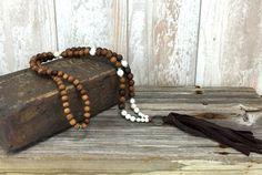 Leather Tassel Necklace Bohemian Necklace by TrueNatureJewelry #leather #tassel #boho