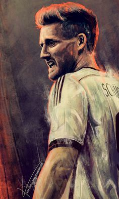 Paintings Of Germany's Players celebrating its World Cup Victory by Kim Christensen