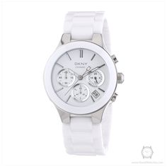 9ed0a5a9f DKNY Women's Quartz Watch with White Dial Analogue Display and White  Stainless Steel Bracelet