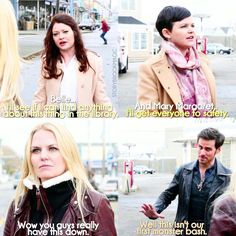 "Emma, Belle, Mary Margaret, and Hook 4x13 ""Darkness on the Edge of Town"""