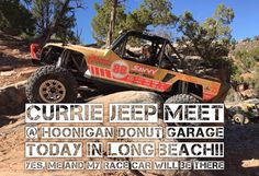 Today from 12-5 in Long Beach CA @currieenterprises is throwing a Jeep Club Day @thehoonigans Donut Garage. My KOH race car will be there and so will I... for at least a little while ;) by thejessicombs