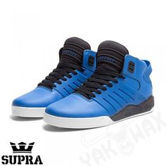 Supra Mens Skytop III Skate Shoes in Royal blue and black. supra mid high  tops from www.yakwax.com supra-m44  supra  suprafootwear  skytopIII   skytop3 ... bca0c57123a