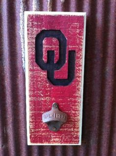 Oklahoma Sooners Bottle Opener by TreyColeCreations on Etsy