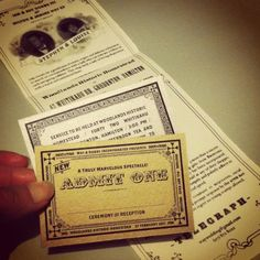 Via @thewaytobe: Wedding invitation  design related to 1930's theatre ad's and tickets