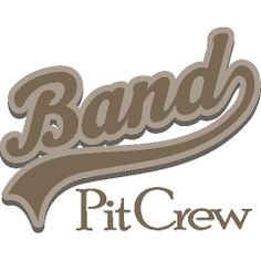 This fun marching band pit crew Custom T-Shirts logo makes a great gift idea for a band pit crew.