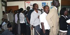 Mwalimu Sacco members queue to access their cash. Saccos regulator plans to set up a system through which societies can lend each other. PHOTO | FILE