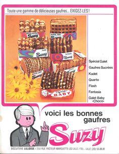Publicité gaufres Suzy, Biscuiterie Lilloise (Marquette-lez-Lille) - Nord magazine n°21, octobre 1971