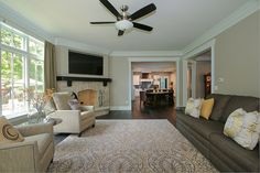 Hellyer Custom Builders new construction home in Naperville - Living Room with fireplace