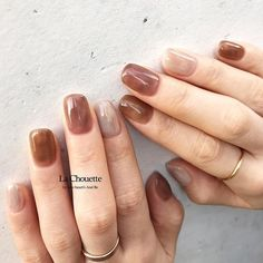 Pin by Lydia Radewych on // nails + nail art // in 2019 Love Nails, How To Do Nails, Pretty Nails, My Nails, Minimalist Nails, Nailart, Korean Nail Art, Bridal Nail Art, Nagel Gel