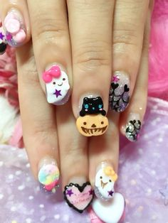 Where is Happiness ? - I found this on Tumblr and I wish I could do my nails like this.