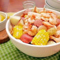 a recipe for Low Country Boil with  homemade Old Bay seasoning from @susan | Our Family Eats