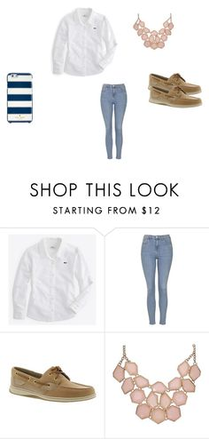 """""""vv oxford"""" by eappich on Polyvore featuring Vineyard Vines, Topshop, Sperry Top-Sider, Kate Spade, women's clothing, women, female, woman, misses and juniors"""