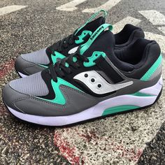 New Arrival | Saucony | Grid 9000 | Grey/Mint | $80 | Available in-store or by phone at 414-273-3333. #saucony #trainers #MODA3 #sneakers #grid9000 #streetwear #kotd #kicks