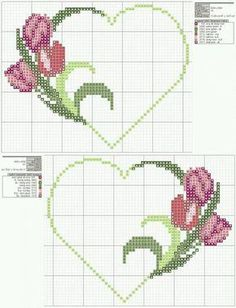 ~ punto croce by hand Cross Stitching, Cross Stitch Embroidery, Hand Embroidery, Cross Stitch Heart, Cross Stitch Flowers, Cross Stitch Designs, Cross Stitch Patterns, Broderie Bargello, Loom Patterns