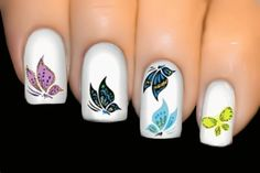 BUTTERFLY SERIES Nail Art Water Transfer Decal Sticker ♥ Symphony ♥ #691