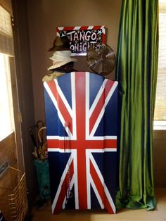 Union Jack Armoire...and is that a Simon painting on the wall?