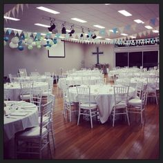 Turn a modern church hall into a wedding venue