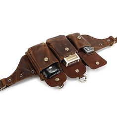 Leather Belt Bag Waist Bag Utility Easy Belt Bag by BunnysGoods